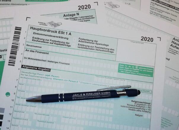 Steuererklärung - Jäkle & Kreuzer GmbH, Steuerbeartungsgesellschaft Kempten